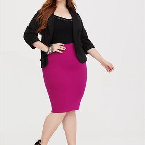 Torrid Berry Pink Ponte Pencil Skirt 4X